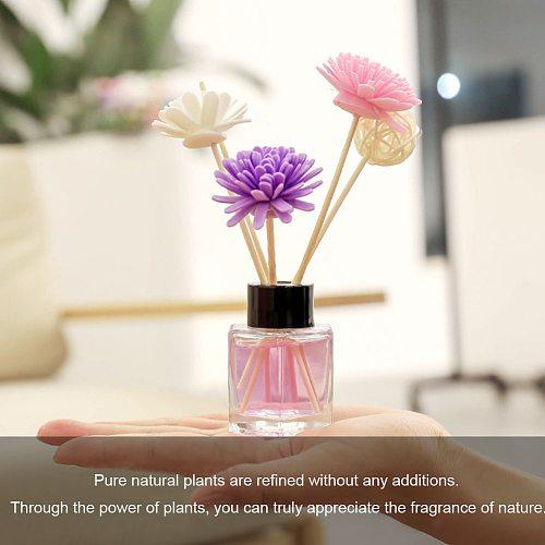 Reed Aroma Diffuser Fragrances Accessories Faux Flower Rattan Sticks Set Deodorization Home Decor Bedroom Essential Oil Refill