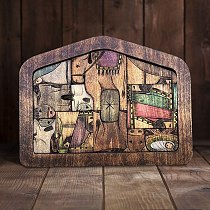 Ark Of The Covenant Christian Decor Ornament Nativity Puzzle with Wood Burned Design, Wooden Jesus Puzzles Game for Kids