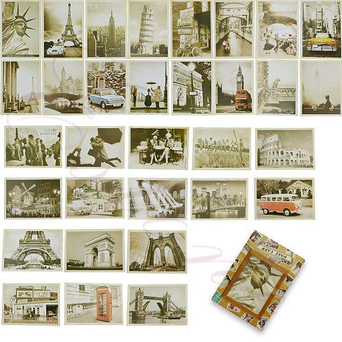Lot of 32 Travel Postcard Retro Vintage Landscape Photo Picture Poster Post Card K1MF