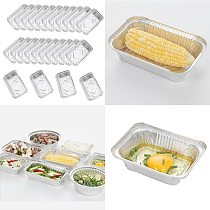 25x Disposable Tinfoil Baking Pan Takeaway Food Container BBQ Tray