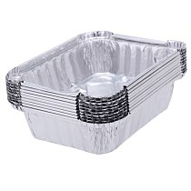 New 10Pcs/lot Disposable Aluminum Foil Pans Food Storage Containers Microwavable Cup Tableware 220ML