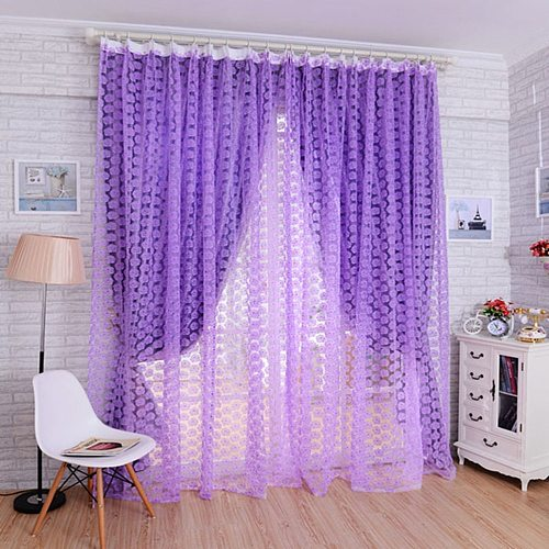 4 Colors Rose Voile Blackout Curtains Living Room Window Curtains Tulle Sheer Curtains Home Decor only window screening 1 side