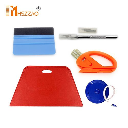 Window Tint Tools Car Carbon Foil Vinyl Wrap Film Squeegee Tool Kit Motor Car Sticker and decals Wrapping Scraper Set