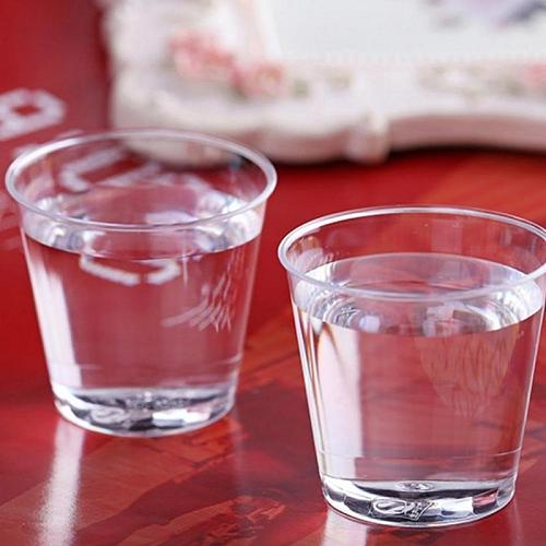 20pcs Disposable Plastic Shot Glasses Clear Party Cocktail Cups Plastique Tumblers For Weddings Birthday Drinks Cup Kitchen Tool