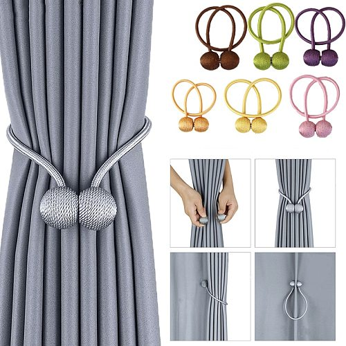 1Pc Magnetic Curtain Holder Buckle Cilp Window Accessories Curtain Decorative Curtain Tieback Magnet Holdback Curtains Holder