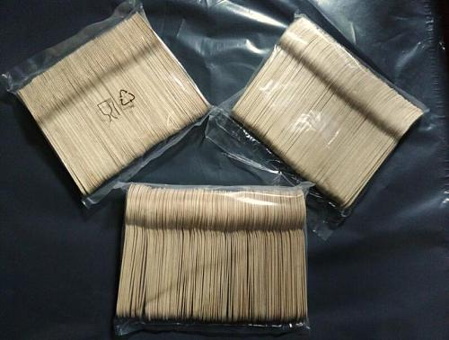 100pcs/pack Wooden Disposable Cutlery Knife Fork Spoons Tableware Flatware Set