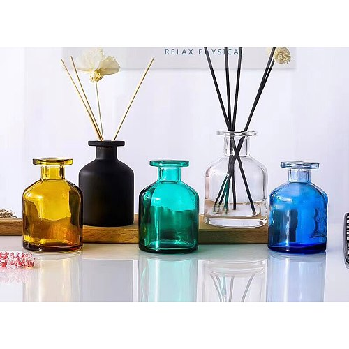 100ml Oil Diffusers Sticks Glass Container Reed Diffuser Essential Oil Bottle Household Products Fragrance Diffuser Bottle