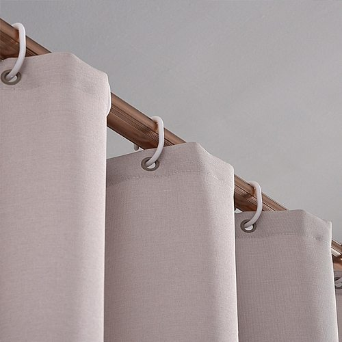 Waterproof Mildew Thickening Shower Curtain Solid Color Shower Curtain Bathroom Curtain Imitation linen Shower Curtain D40
