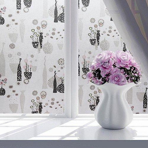 45*100cm Frosted Opaque Glass Window Film PVC Adhesive Self Glass Stickers Bathroom Window Deacls Home Decor