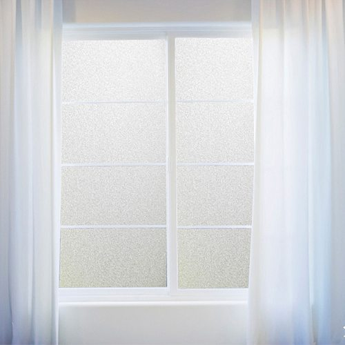 PVC Frosted Window Film Waterproof Glass Sticker Self-Adhesive Home Bedroom Bathroom Office Privacy Scrubs Frost Films 45x100cm