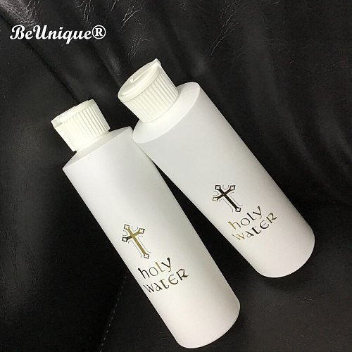 Easter holy water bottle 250ML Christian Religious Article Gilding Cross  Printing Ireland August 2018 Round plastic bottle