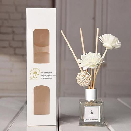 50ml Glass Bottles Reed Diffuser Sticks Set Air Fresher Essential Oil Flameless Aromatherapy Sanded Home Fragrance Perfume Set