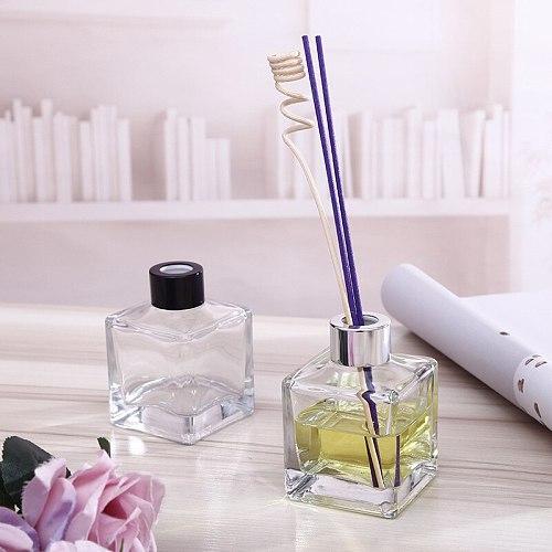 5PCS/Set 130ml Home Fragrance Essentia Oil Bottle Air Freshener Decorative Glass Bottle Scented Reed Diffuser for Gift 8*6*3CM
