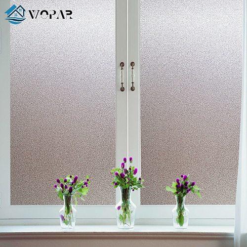 New 30/45/60cm Vinyl Frosted Window Film Waterproof Glass Sticker Home Bedroom Bathroom Office Privacy Scrubs Frost No Glue