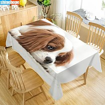 Custom King Charles Spaniel Table Cloth Oxford Print Rectangular Waterproof Oilproof Animals Table Cover Wedding Tablecloth