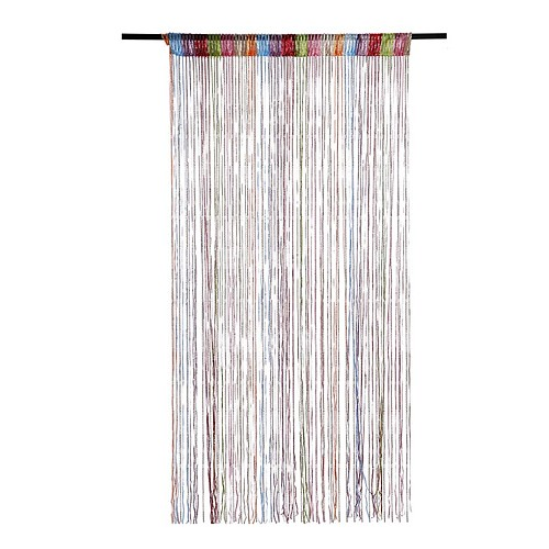 String Door Curtain Fly Insect Screen Doorway Divider Window Tassel Braided Polyester Curtain Drape