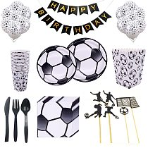 Soccer Football Theme Birthday Party Decoration Football Disposable Tableware paper plate cup napkin kids party supplies
