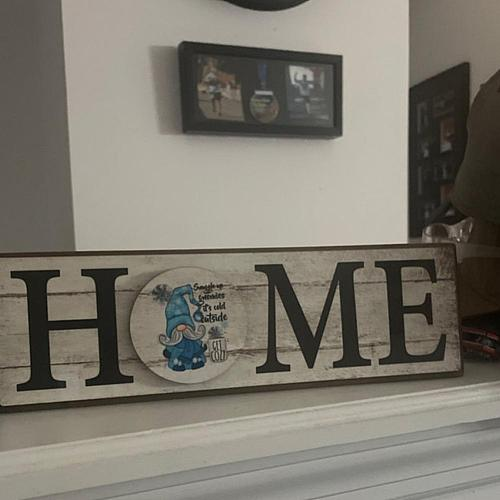 Sign Decor Decorative Interchangeable Wood Creative Home Letter Magnetic Adsorption Plaque Decor for Living Room Ornaments