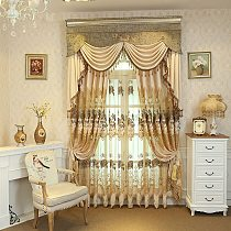 Luxury European Style Thickening Shading Pure Color Window Valance Italy Velvet Curtains for Living Room bedroom dining room