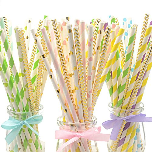 25pcs Disposable Colorful Straws Creative Valentine's Day Straw Paper Straws Wedding Birthday Party Decor Fruit Juice Straws