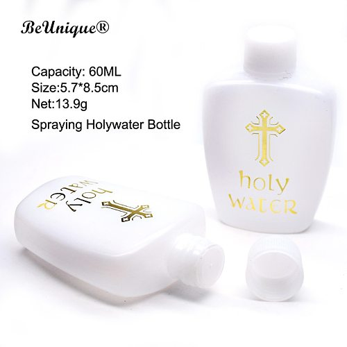 Catholic ceremonial articles 60ML holy water bottle  Hot Stamping Cross PS plastic  bottle Christian religious goods supplied
