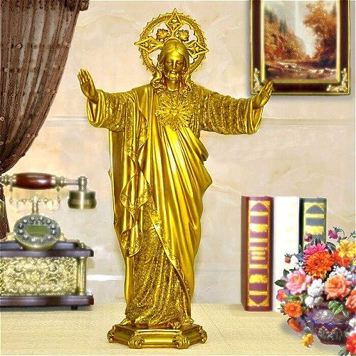 2020 HOT SALE LARGE # TOP ART ROMAN CATHOLICISM JESUS CHRIST HOME DECOR RELIGIOUS DECORATION ART PRAYING HOLY STATUE