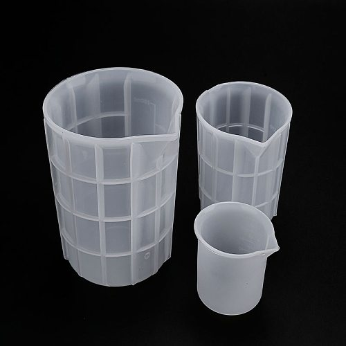 DIY Crystal Epoxy Silicone Mold Disposable Measuring Cup 750ml With Scale Production