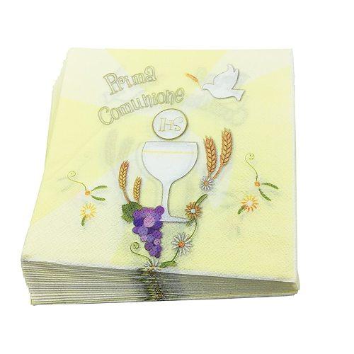 20pcs/lot Italy  prima comuhiohe  Paper Napkins for Communion Party cute Napkins for festival party Decor&Supplies