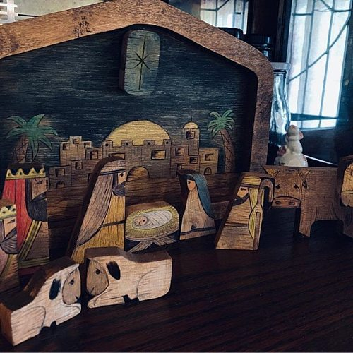 Wooden Nativity Puzzle With Wood Burned Design Wooden Jesus Puzzle Ornament Home Decoration For Kids Family Christian Plaques