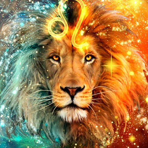 5D DIY Diamond Painting Full Square Lion Constellation Cross Stitch Kit Embroidery Mosaic Picture Of Rhinestones Home Decor Gift
