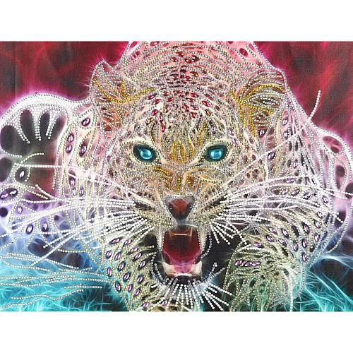 5D DIY Special Shaped Diamond Painting Cartoon Animal Tiger Embroidery Cross Stitch Partial Special Rhinestone Home Decor