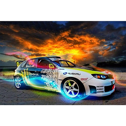 2021 New Full Round Drill Kit Diamond Embroidery Mosaic Cross Stitch 5D Diy Motorcycle Car Diamond Painting Gift Home Decoration