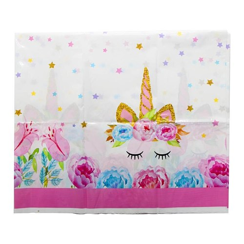 180*108 cm 1pc Unicorn Theme Table Cloth for Kids Happy Birthday Party Decoration Table Cover Event Party Supplies