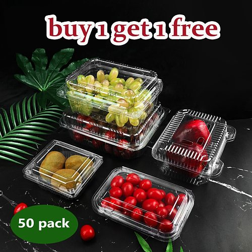 Disposable food packaging box for Fruits Salad transparent box disposable cake container Supermarket with fruit shop cake shop