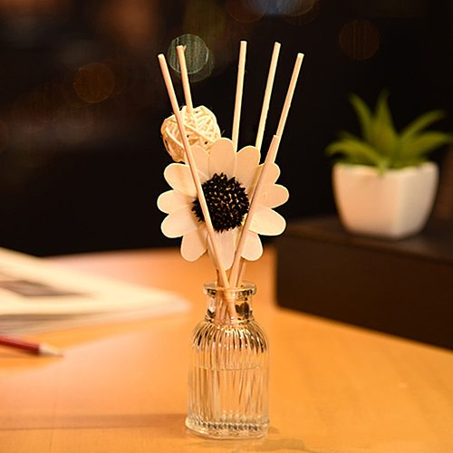 Gift Fresh Air Spa Reed Diffuser Set Hotel Sun Flower Fragrance Rattan Ball Office Aromatherapy Stick Home Bathroom Decoration
