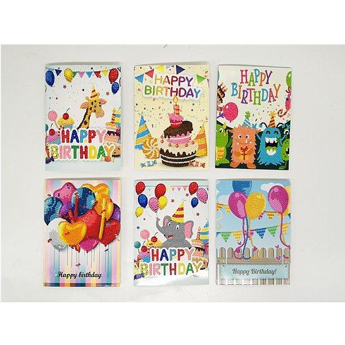 Birthday Diamond Card  Diamond Painting Diamond Embroidery Cross Stitch 5D DIY Greeting Card Fashion Style Gifts For Kids