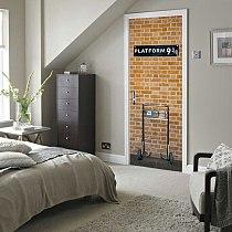 Funlife London 9 3/4 London Underground Platform 3D stereo self-adhesive bedroom wall sticker DM011