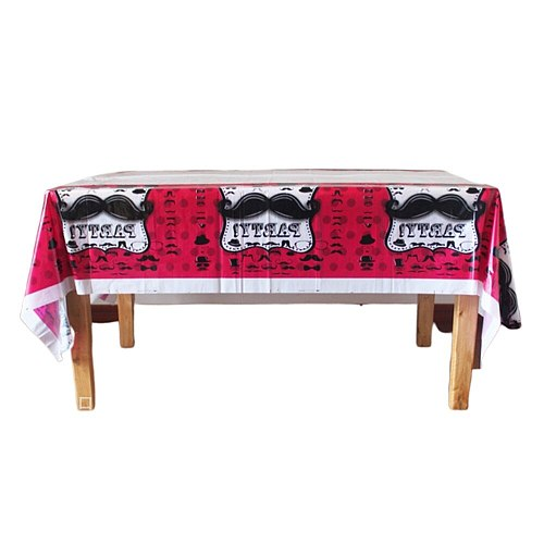 Party Supplies Bearded Tablecloths Disposable PE Tablecloths Picnic Table Covers Table Decor Party