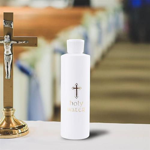 2pcs Cylindrical Holy Water Bottle Church Holy Water Bottle Jesus Cross Pattern Exorcism Halidom For Travel Holy Water Bottles