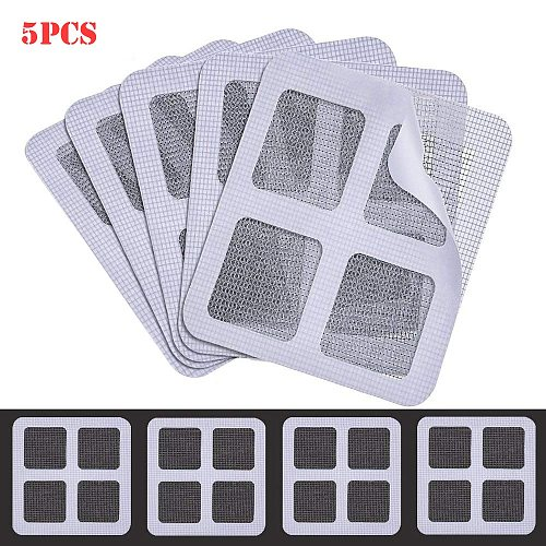 5 Pack Window And Door Screen Repair Patch Adhesive Repair Kit Indoor Insect Fly Mosquit Window Screens Curtain Mosquito Net