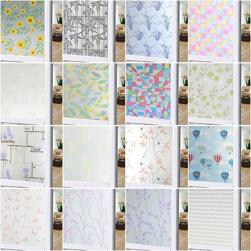 450*1000mm Privacy Window Film Glass Door Film Adhesive Window Cling Stickers For Office And Home Decoration