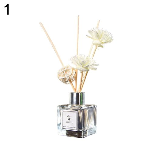 50ml Glass Bottles AirFresherEssential OilReed Flameless Aromatherapy Diffusers Air Freshener Set Bathroom Hotel Home Decor