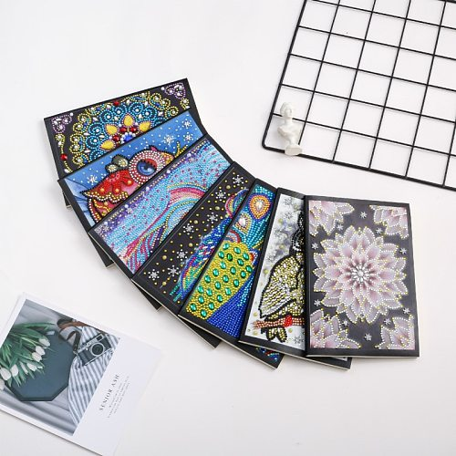 New Year Gift Christmas Diamond Painting Notebook Mandala Special Shaped Diamond Embroidery Cross Stitch A5 Notebook Diary Book