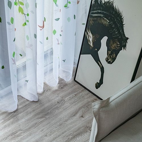 Willow Modern Tulle Curtains For Living Room Bedroom Bird Printed Voile Sheer Curtains For Window Tulle Curtains Drapes