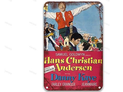 Hans Christian Andersen (1952) Modern Metal Tin Signs Movies Garden Decor for Bedroom Decor 8x12 Inches