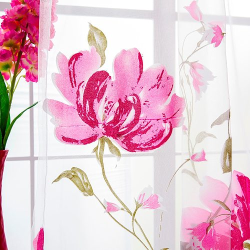 1 PCS Vines Modern Leaves High Quality Simple Tulle Door Window Curtain Drape Panel Sheer Scarf Valances Home Decoration