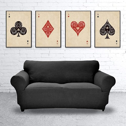 Ace Poker Cards Canvas Painting Abstract Gaming Posters Home Decoration Vintage Art Print Wall Pictures for Living Room Decor