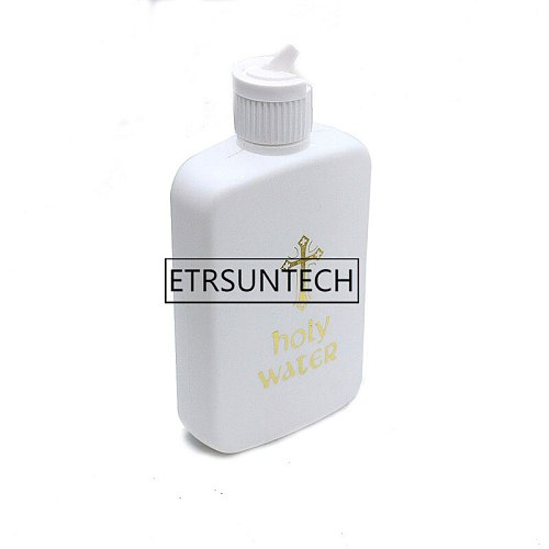 100pcs Holy Water Bottle 100ML Religious Articles Bottles Easter Plastic Bottle with Cross for Holy Water