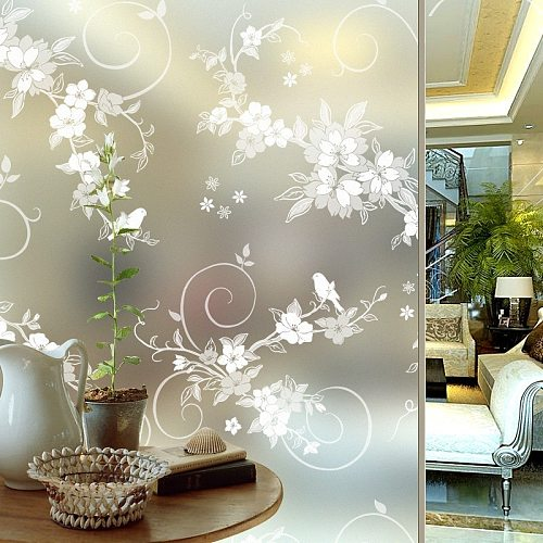 Length 4 m Adhesive Thickening Retro Windows Paste Paper-cut Frosted Window Sticker Glass Film Opaque Paper Toilet Bathroom HQ19