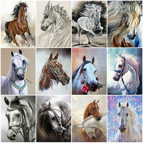 Evershine Diamond Painting Horse Cross Stitch Kit Full Square Round Diamond Embroidery Sale Animal Mosaic Rhinestones Art